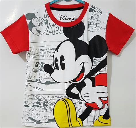 Harga Baju Merk Disney kaos mickey mouse comic merah 1 6 disney grosir eceran