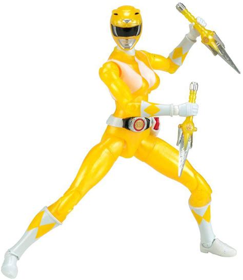 Limited Edition Kaos Mighty Morphin Power Rangers Yellow Laris mighty morphin power rangers legacy figure yellow ranger metallic forbiddenplanet