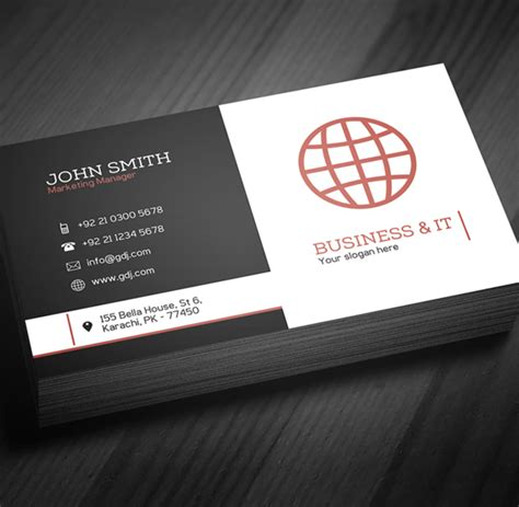 company card template free corporate business card template psd freebies