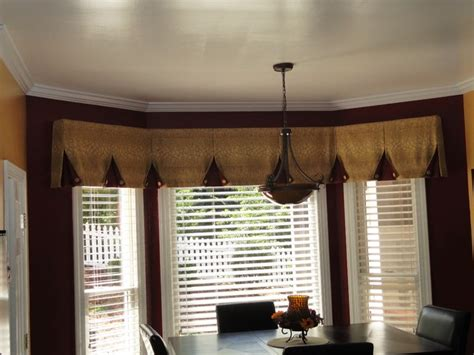 Window Kitchen Valances Bay Window Valance Contemporary Kitchen