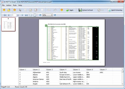 converter pdf to excel extract and convert pdf data to excel xls csv a pdf com