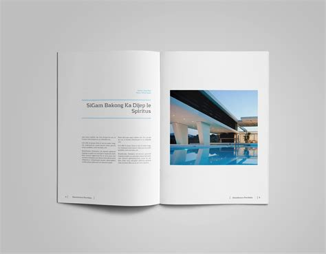 layout portfolio a4 a4 and us letter portfolio catalog template on behance
