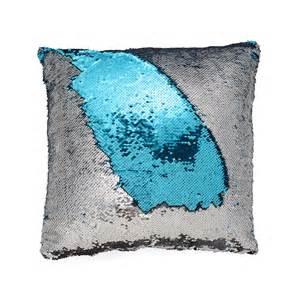 blue silver mermaid pillow mermaid pillows