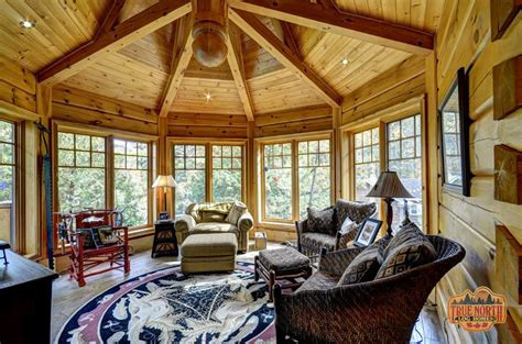 octagon homes interiors citadel 5 by true log homes
