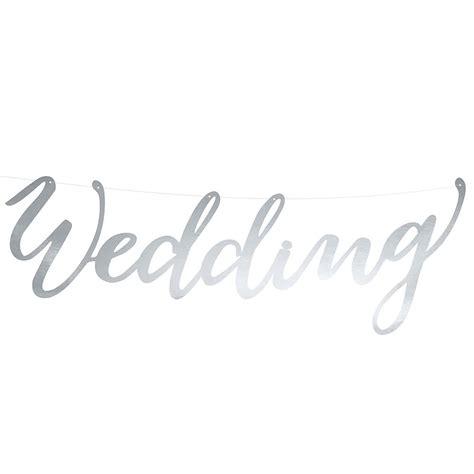 Hochzeit Girlande by Girlande Wedding Silber 45 Cm Weddix De