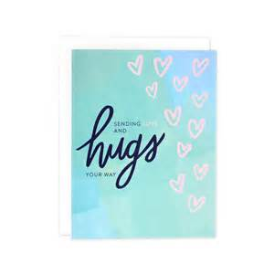 sympathy card sending hugs card thinking of you card