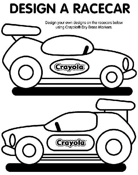 crayola coloring pages cars design a racecar coloring page crayola