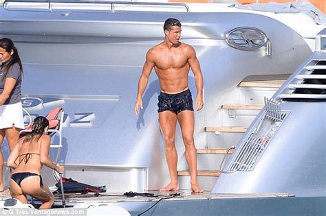 boat in spanish means cristiano ronaldo shows off his physique with bikini