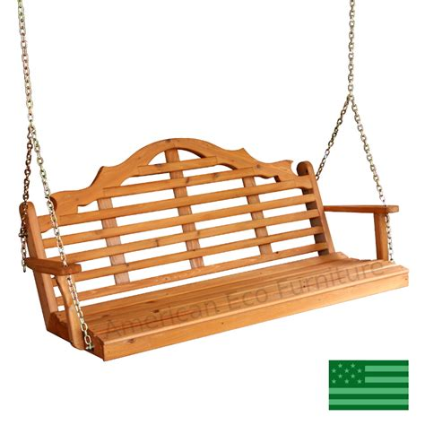 swing usa amish cedar minorca porch swing made in usa american