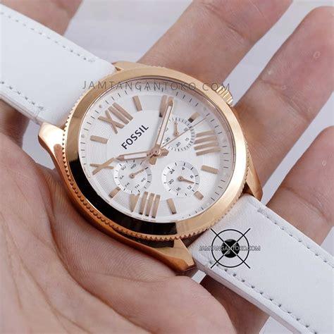 Jam Tangan Wanita Jam Tangan Cewek Fossil Navy Rosegold harga sarap jam tangan fossil am4486 cecile kulit putih