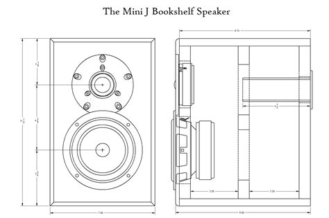 mini j two way bookshelf speakers parts express project