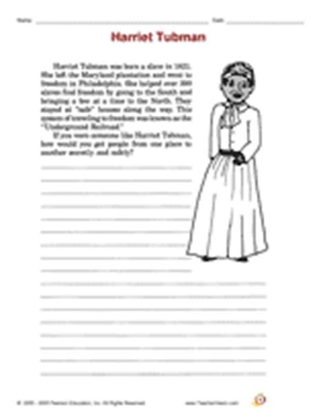 harriet tubman biography for third graders harriet tubman writing activity printable 2nd 3rd grade