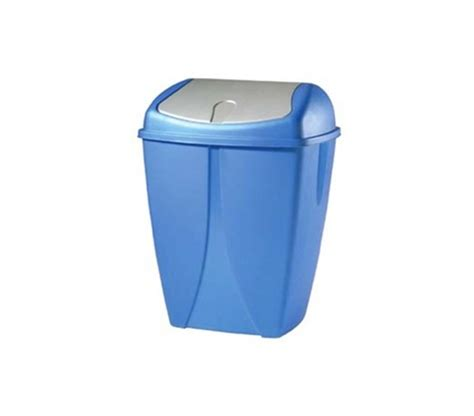 swing trash can swing lid helps cover odors and keep privacy