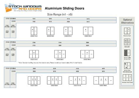 Sliding Glass Door Sizes Standard Size Aluminium Sliding Doors Sliding Doors