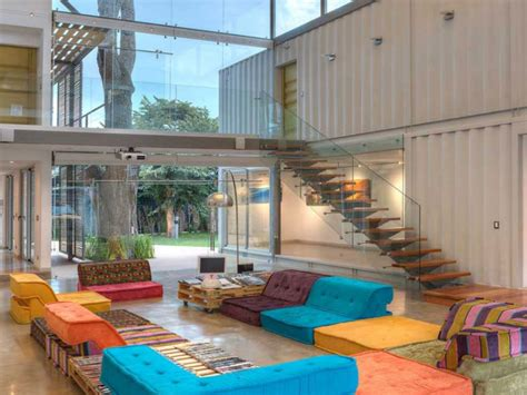 Interior designed homes, shipping container home