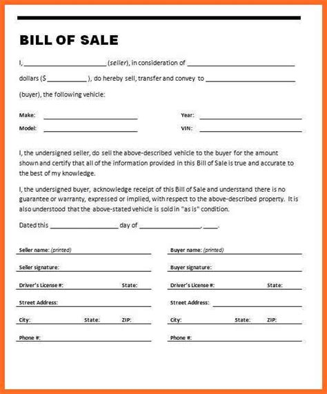 texas bill of sale form bill of sale form texas soap format
