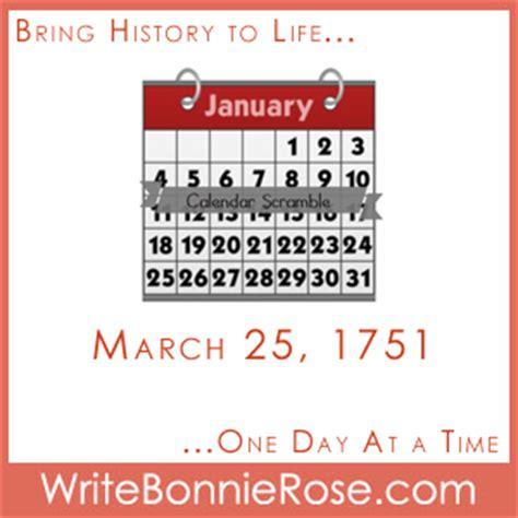 new year the history timeline worksheet march 25 1751 new year s day