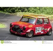 Darren Eaton In The Austin Mini Racing Editorial Stock