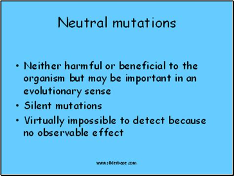 what are neutral mutations cause and effect of mutation presentation genetics