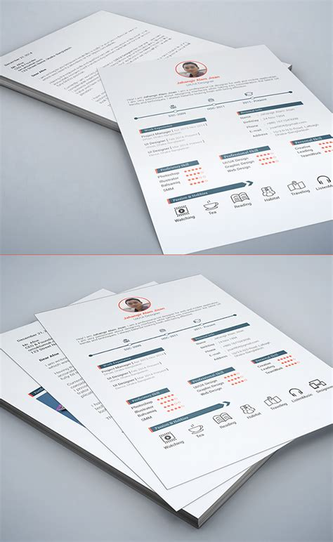 modern resume template psd free psd files for designers 27 photoshop psds