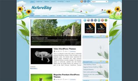blogger themes nature 50 fantastic free wordpress themes entheos