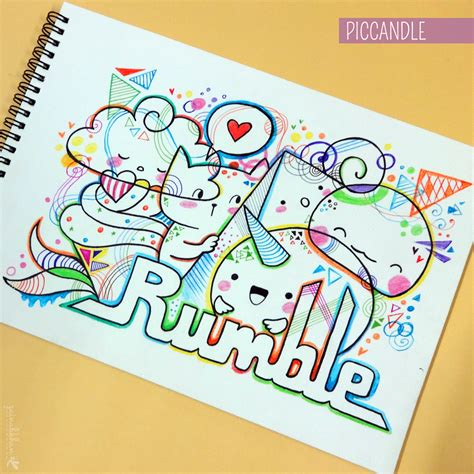 the doodle book draw colour create doodle rumble by piccandle on deviantart