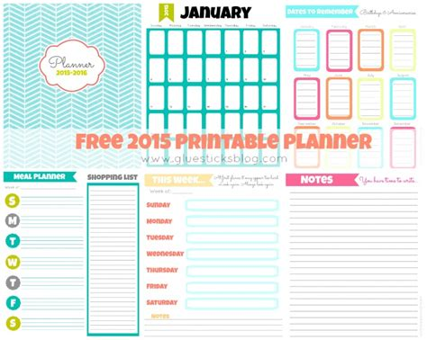 printable home planner pages free printable 2015 planner gluesticks