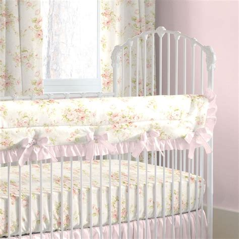 Baby Crib Bedding by Shabby Chenille Crib Bedding Pink Floral Baby Crib