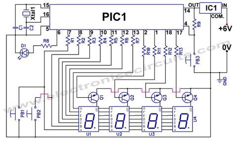 clock circuit diagram fyp digital clock circuit