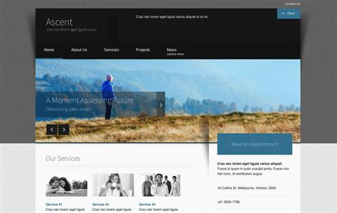 jooma templates responsive clean business joomla template ascent