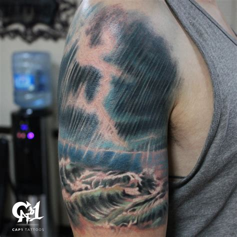 thunderstorm tattoos by capone tattoonow