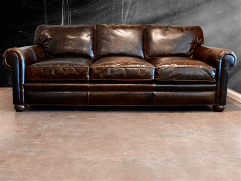 distressed leather sofa bed splashy distressed leather sofa mode austin transitional
