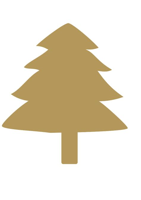 gold christmas tree clipart clipartxtras