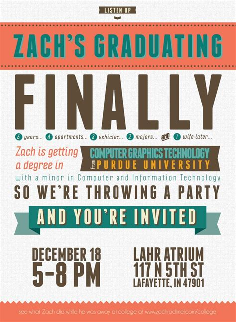 free templates for college graduation announcements free typography style college graduation invitation