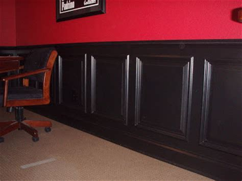 Black Wainscoting independent craftsman black raised paneled wainscot