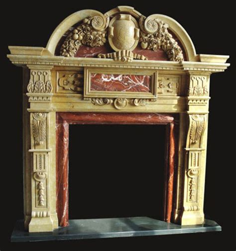 ns 37 marble mantel ornate fireplace