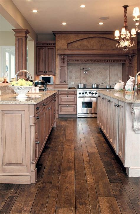 Hardwood Laminate Flooring For Kitchen White Cabinets Wood Floor Kitchen