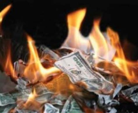new year money burning burning money this was being around at work