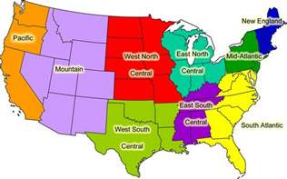 map of the 5 regions of the united states the state of a region introduction