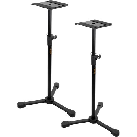 Pro Pedestal Auray Lms 335 Studio Monitor Stands Pair Lms 335 B Amp H Photo