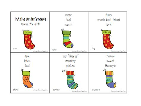 printable inference games christmas inference and problem solving activities