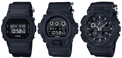 G Shock Series Black g shock black series with cordura band g