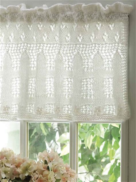 free crochet window curtain patterns knitting windows doors floors picket fence lace