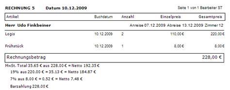 Rechnung Schweiz Mehrwertsteuer Ausweisen Integration Der Variable Netto Betrag In Der Hotelsoftware Bei 228 Lteren Rechnungslayouts