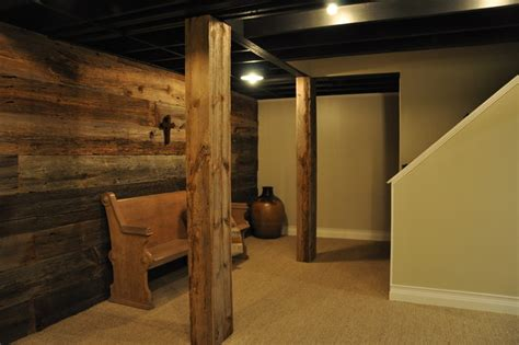 Bathroom Ideas Gray by Modern And Rustic Rustic Basement Chicago By Modern Urban Woods