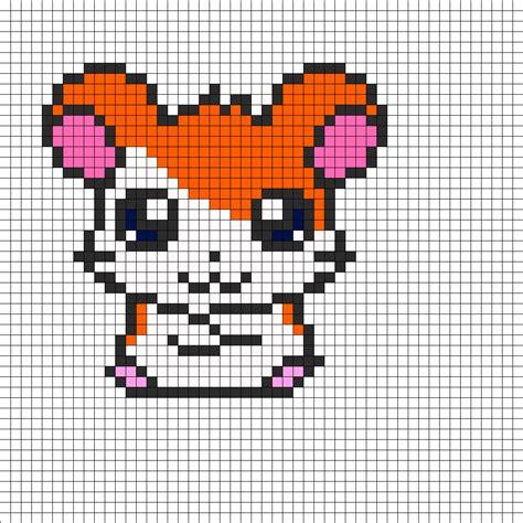 perler bead pattern hamtaro perler bead pattern bead sprites characters
