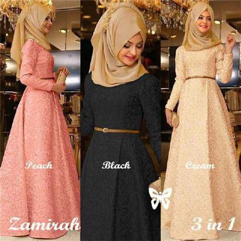 Fashion Wanita Muslim Setelan Gamis Syari Pashmina Rivada Bahan Jersey model baju gamis modern terbaru setelan wanita modis