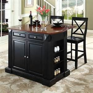 the attractive black kitchen island completed by back the attractive black kitchen island completed by back