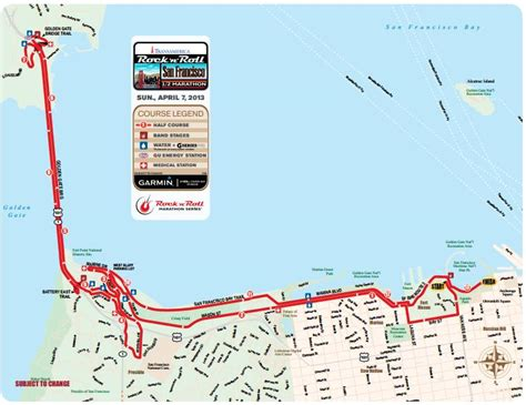 san francisco race map rock n roll san francisco half marathon