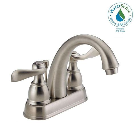bathtub faucet assembly delta windemere 4 in centerset 2 handle bathroom faucet